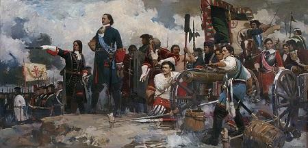 Картина Полтавский бой