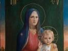 Икона.  Богоматерь с младенцем