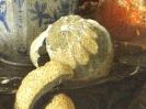"""Виллем Кальф """"Натюрморт с фарфоровой чашей, фужерами и апельсином"""""""