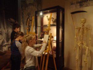 рисование скелета